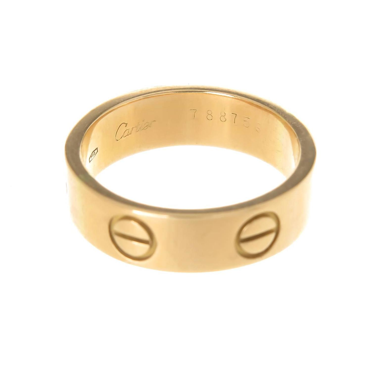 Cartier Gold Love Ring At 1stdibs