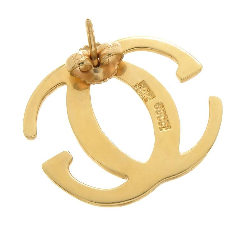 Gucci Gold Double G Earrings 2