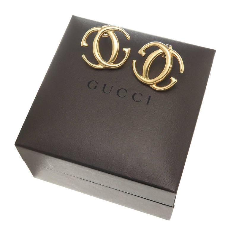 Gucci Gold Double G Earrings 3