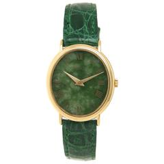 Piaget Lady's Yellow Gold Nephrite Dial Mechanical Wristwatch