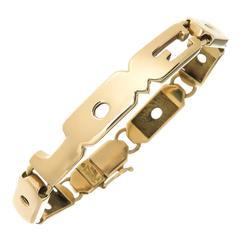 "Henry Dunay Gold ""Love"" Bracelet"