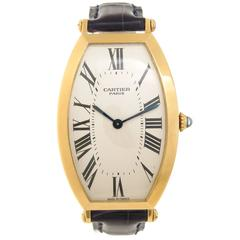 Cartier Yellow Gold Tonneau Large Wristwatch