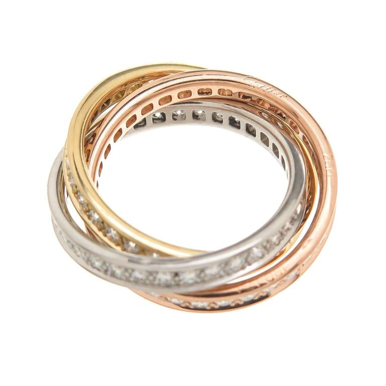 cartier tricolor gold ring for sale at 1stdibs