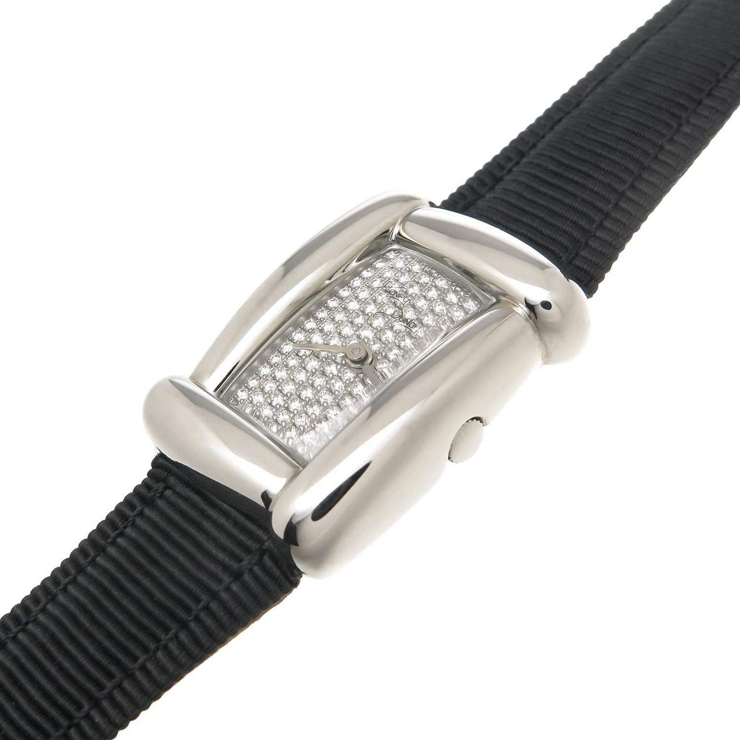 Henry Dunay Ladyu0026#39;s Stainless Steel Diamond Medea Quartz Wristwatch For Sale at 1stdibs