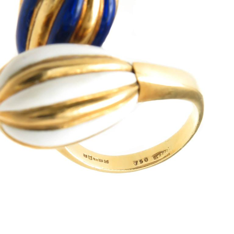 1980s cartier enamel gold ring worn by joan collins for sale at 1stdibs