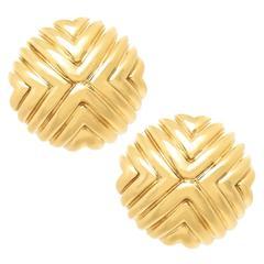 Cartier Gold Button Earrings