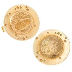 1969 Tiffany & Co. Gold Moon Walk Cufflinks