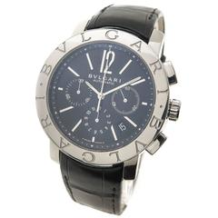 Bulgari Stainless Steel Chronograph Automatic Wristwatch Ref BB 42SL