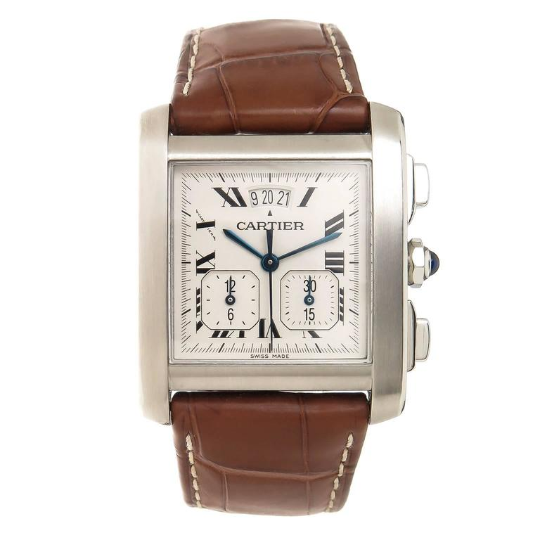 how to set cartier tank francaise chronograph