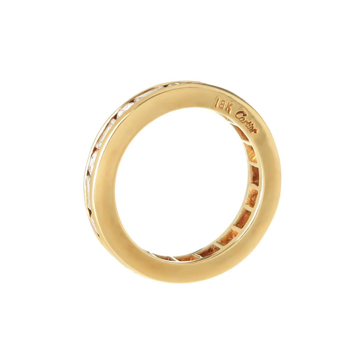cartier gold eternity band ring at 1stdibs
