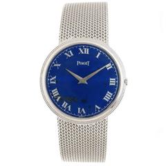 Piaget White Gold Lapis Dial Mechanical Wristwatch