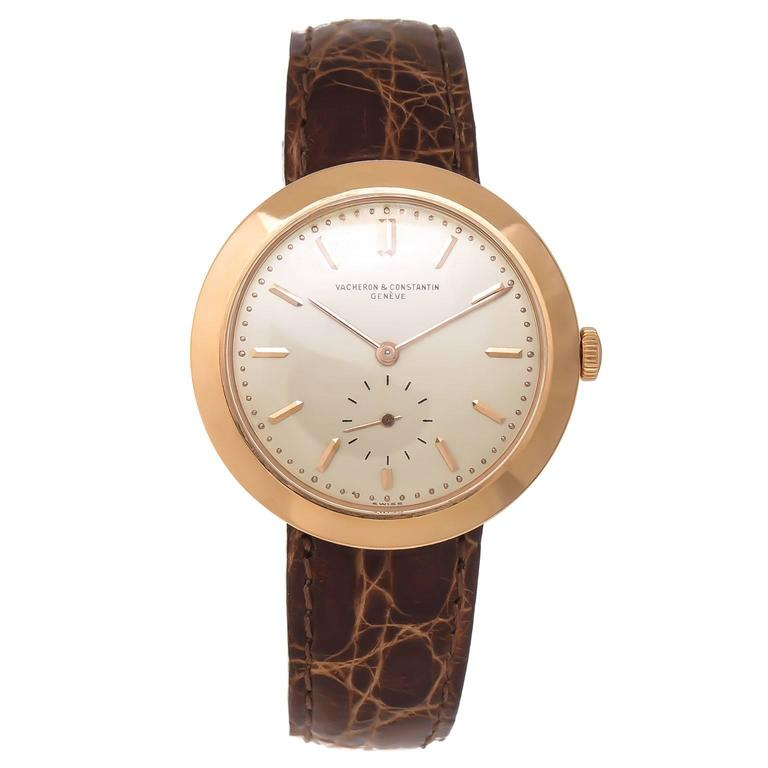 Vacheron & Constantin Rose Gold Manual Wind Wristwatch, circa 1940s