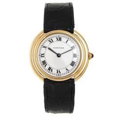 1960s Cartier Yellow Gold Round Cintree Wristwatch