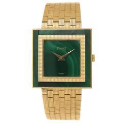Piaget Yellow Gold Malachite Wristwatch