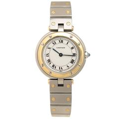 Cartier Ladies Yellow Gold Stainless Steel Santos Quartz Wristwatch