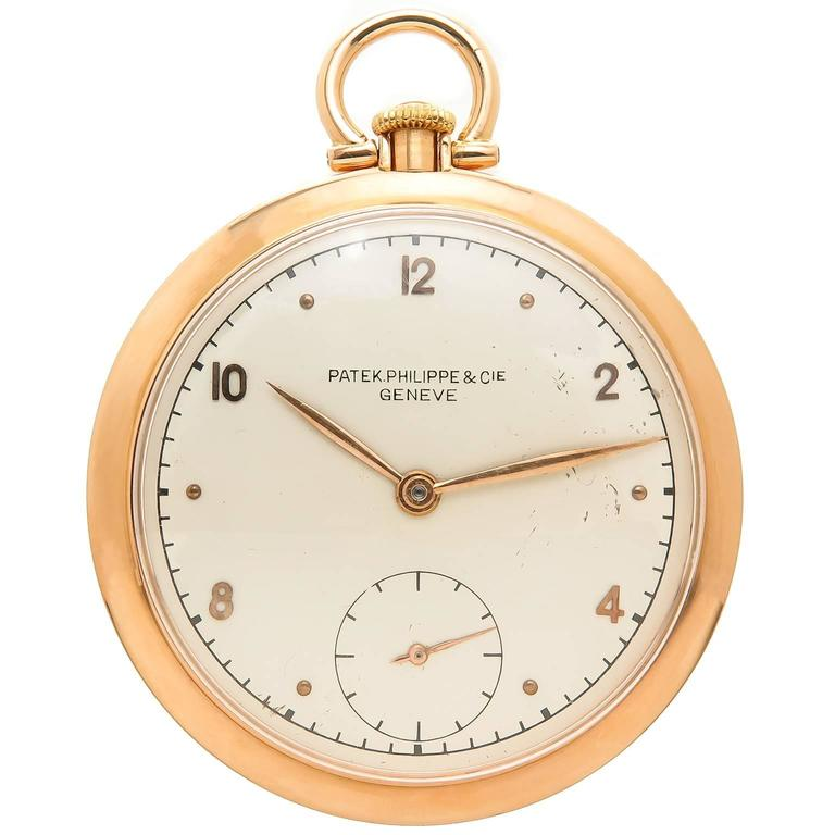 5c551be8f17 Patek Philippe Rose Gold Pocket Watch at 1stdibs