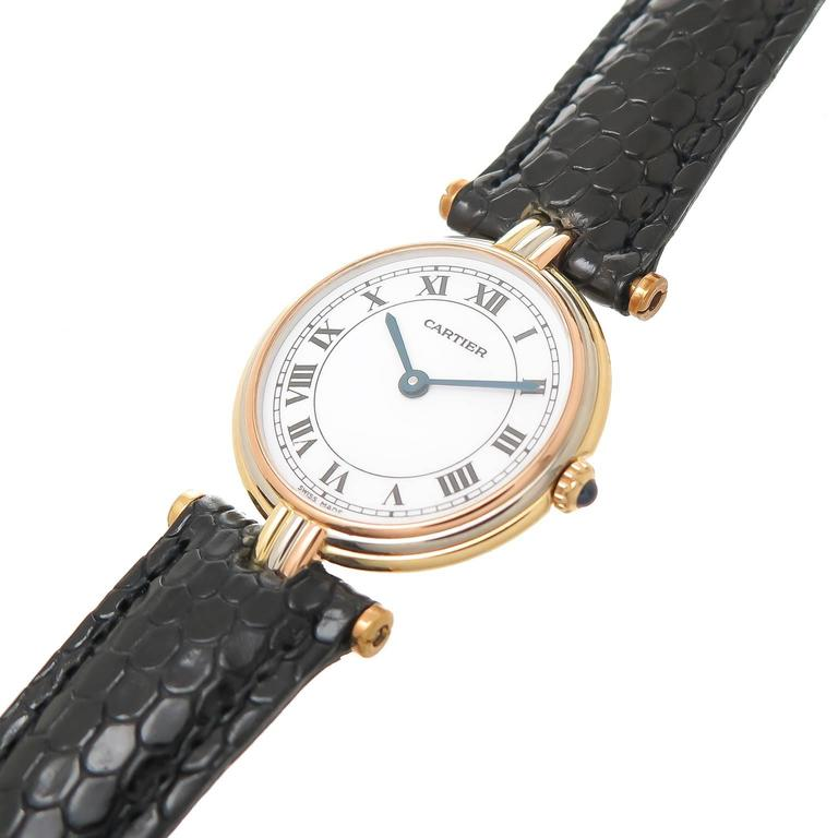 Cartier Ladies Tricolor Gold Vendome Quartz Wristwatch 2