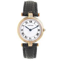 Cartier Ladies Tricolor Gold Vendome Quartz Wristwatch