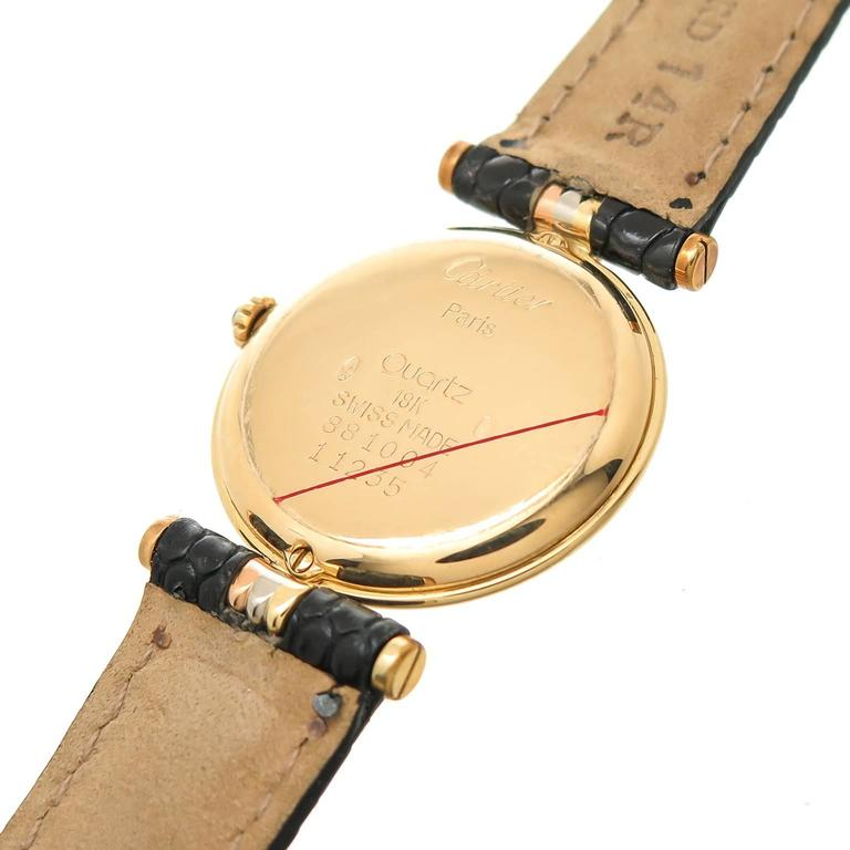 Cartier Ladies Tricolor Gold Vendome Quartz Wristwatch 3