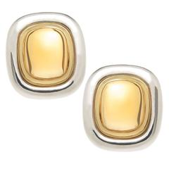 1990s Tiffany & Co. Paloma Picasso Citrine Silver Gold Earrings