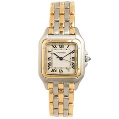 Cartier Panther Gold and Steel Mid Size Quartz Watch