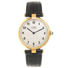 Cartier Large Vermeil Must de Cartier vendome Quartz Wrist Watch