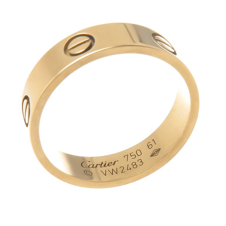 Cartier Yellow Gold Love Ring at 1stdibs