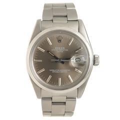 Rolex Stainless Steel Date Self Winding Wristwatch Ref 1500 1979