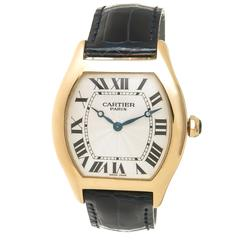 Cartier Yellow Gold Large Tortue Manual Wind Wristwatch