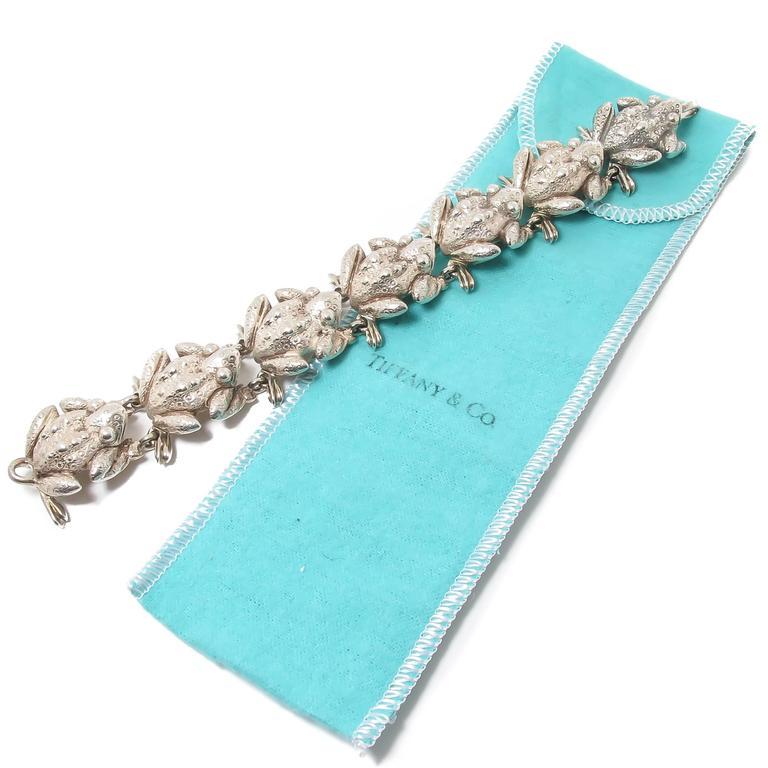 Women's or Men's Tiffany & Co. Sterling silver Bull Frogs Bracelet For Sale