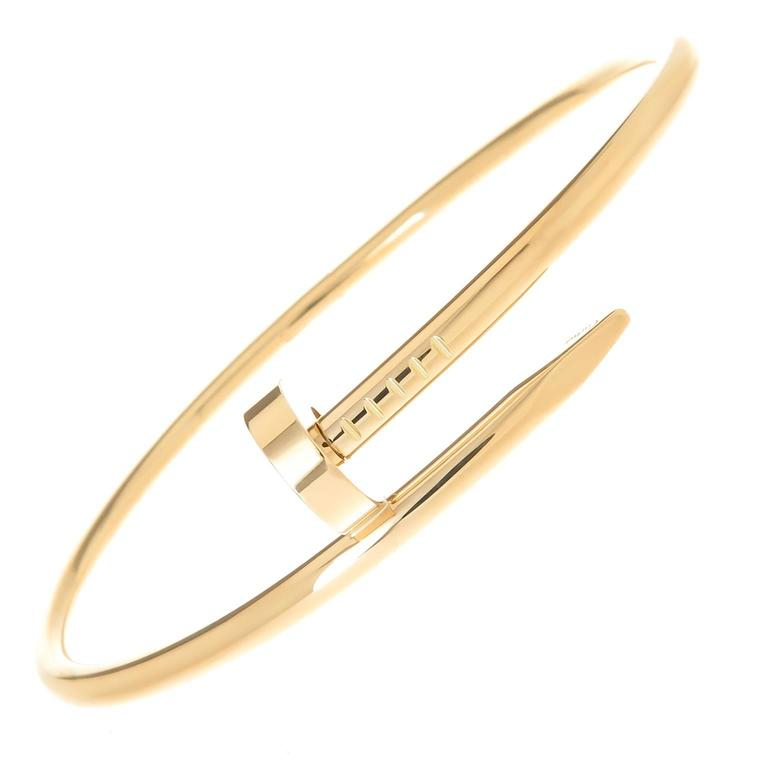 Cartier Juste Un Clou Yellow Gold Nail Bracelet For