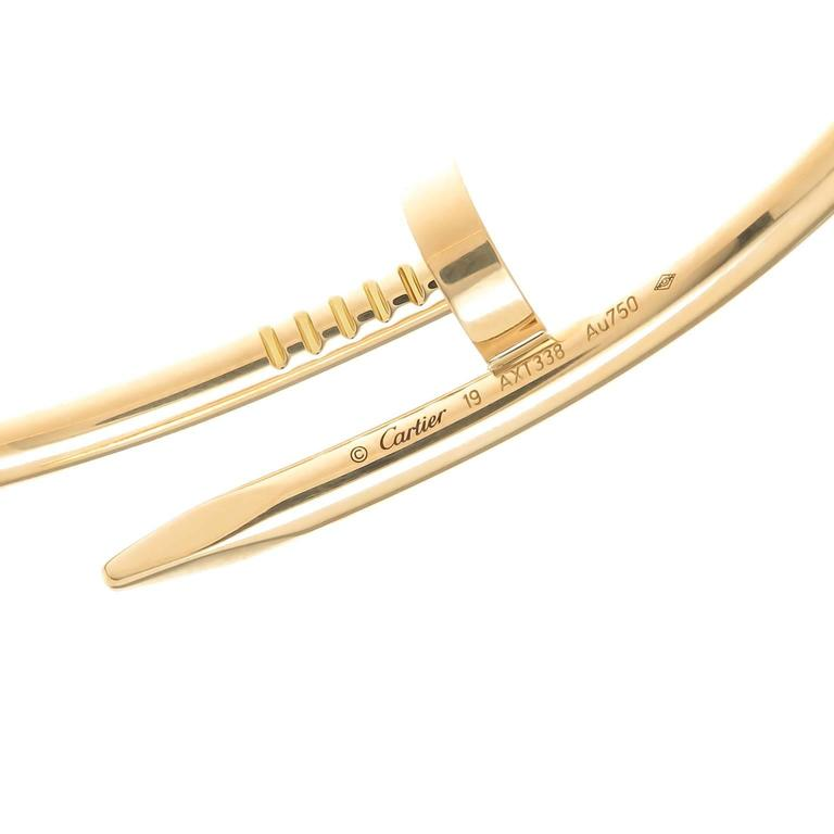 Cartier Juste Un Clou Yellow Gold Nail Bracelet at 1stdibs