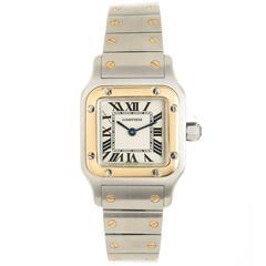 Cartier Ladies Santos Yellow Gold Stainless Steel Quartz Wristwatch
