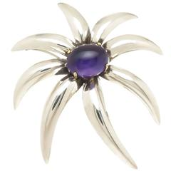 Tiffany & Co Silver Gold and Amethyst Fireworks Brooch