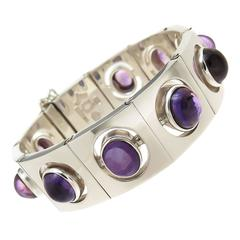 Antonio Pineda Silver and Amethyst Bracelet, 1960