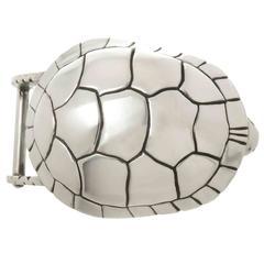Kieselstein Cord Sterling Turtle Belt Buckle