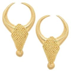 Lalaounis Yellow Gold Ram Earrings