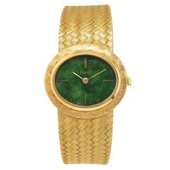 Piaget Yellow Gold Jadeite Dial Mechanical Winding Wristwatch