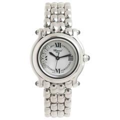 Chopard Ladies Stainless Steel Diamond Happy Sport Quartz Wristwatch
