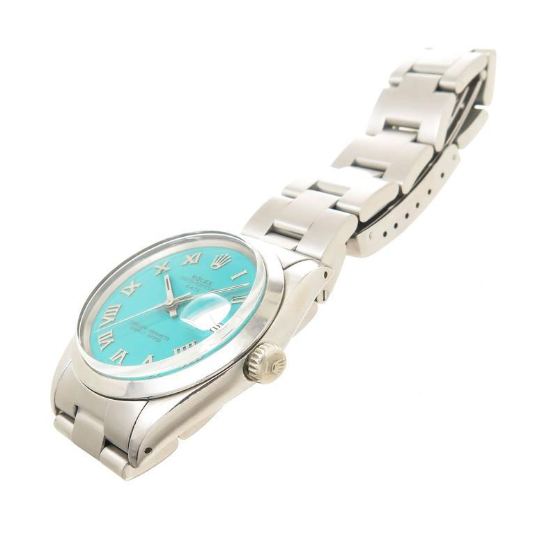 Rolex Steel Model 1500 Gents Automatic Wristwatch Custom Dial 2