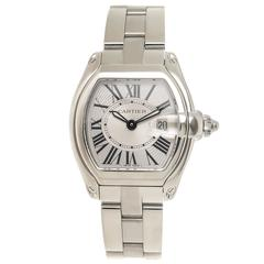 Cartier Ladies Stainless Steel Roadster Quartz Wristwatch