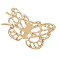 Tiffany & Co. Angela Cummings Gold Butterfly Hair Barrette