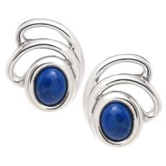 Tiffany & Co. Lapis Lazuli Sterling Earrings