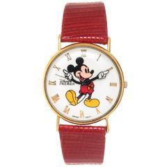 Disney Yellow Gold Premier Mickey Mouse Quartz Wristwatch