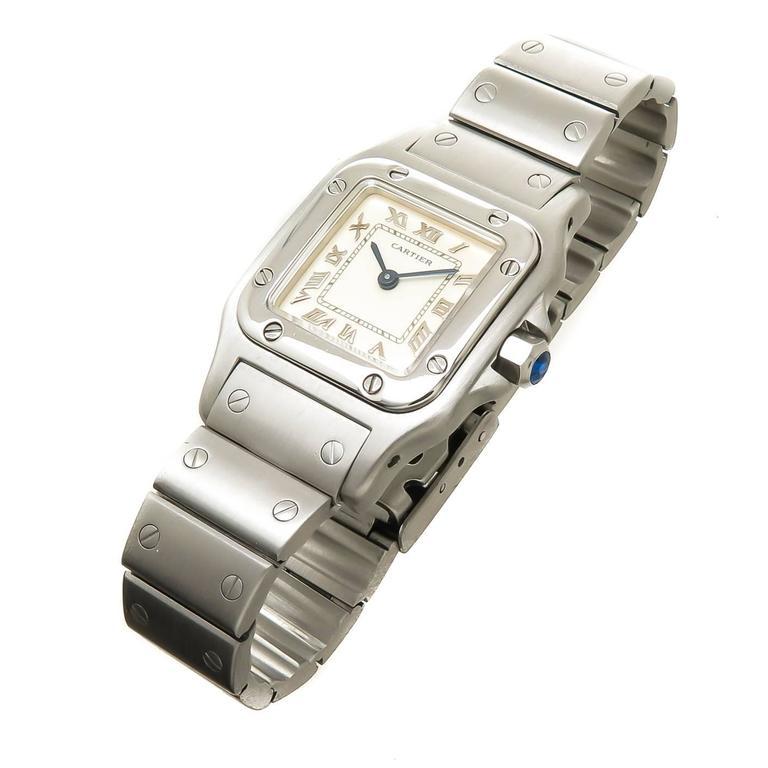 25ecb1e4a Circa 2000 Cartier Santos De Cartier Ladies Wrist watch, 34 X 24 MM Stainless  Steel