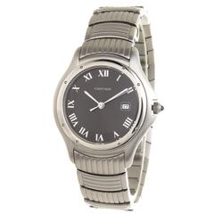 Cartier Stainless Steel Cougar Calendar Quartz Wristwatch