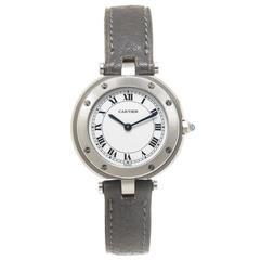 Cartier Ladies Stainless Steel Santos Ronde Collection Quartz Wristwatch
