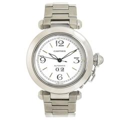Cartier Pasha C Big Date Steel Automatic Wrist Watch