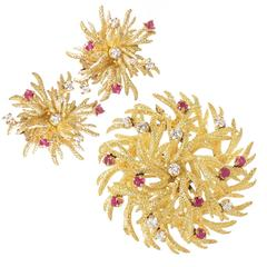 Tiffany & Co. Yellow Gold and Gem Set Suite