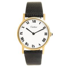 Cartier Yellow Gold Mechanical Wristwatch